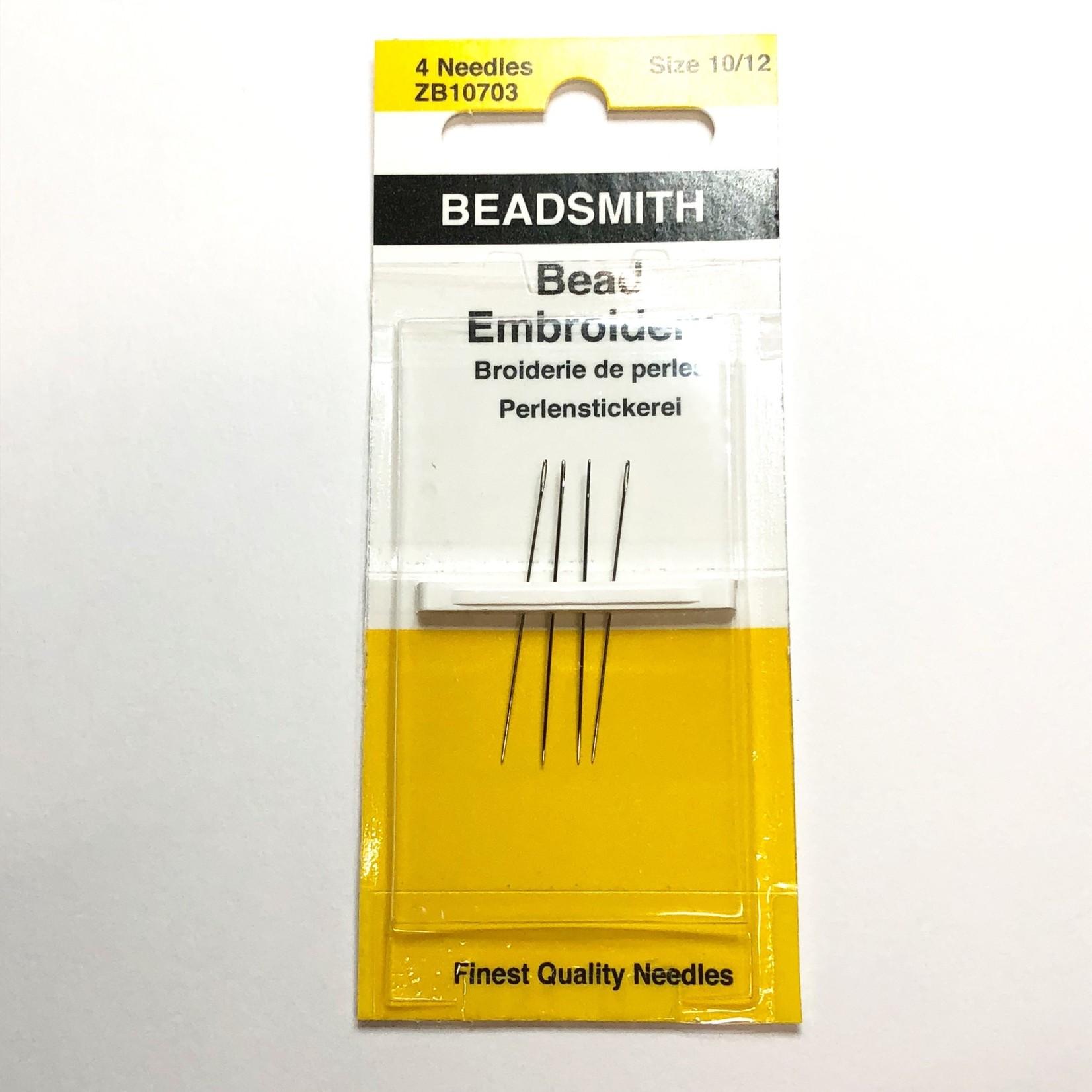 Beadsmith Bead Embroidery Needles #10/12  4pcs
