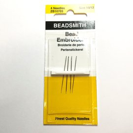Beadsmith Bead Embroidery Needles #10/12  4pcs