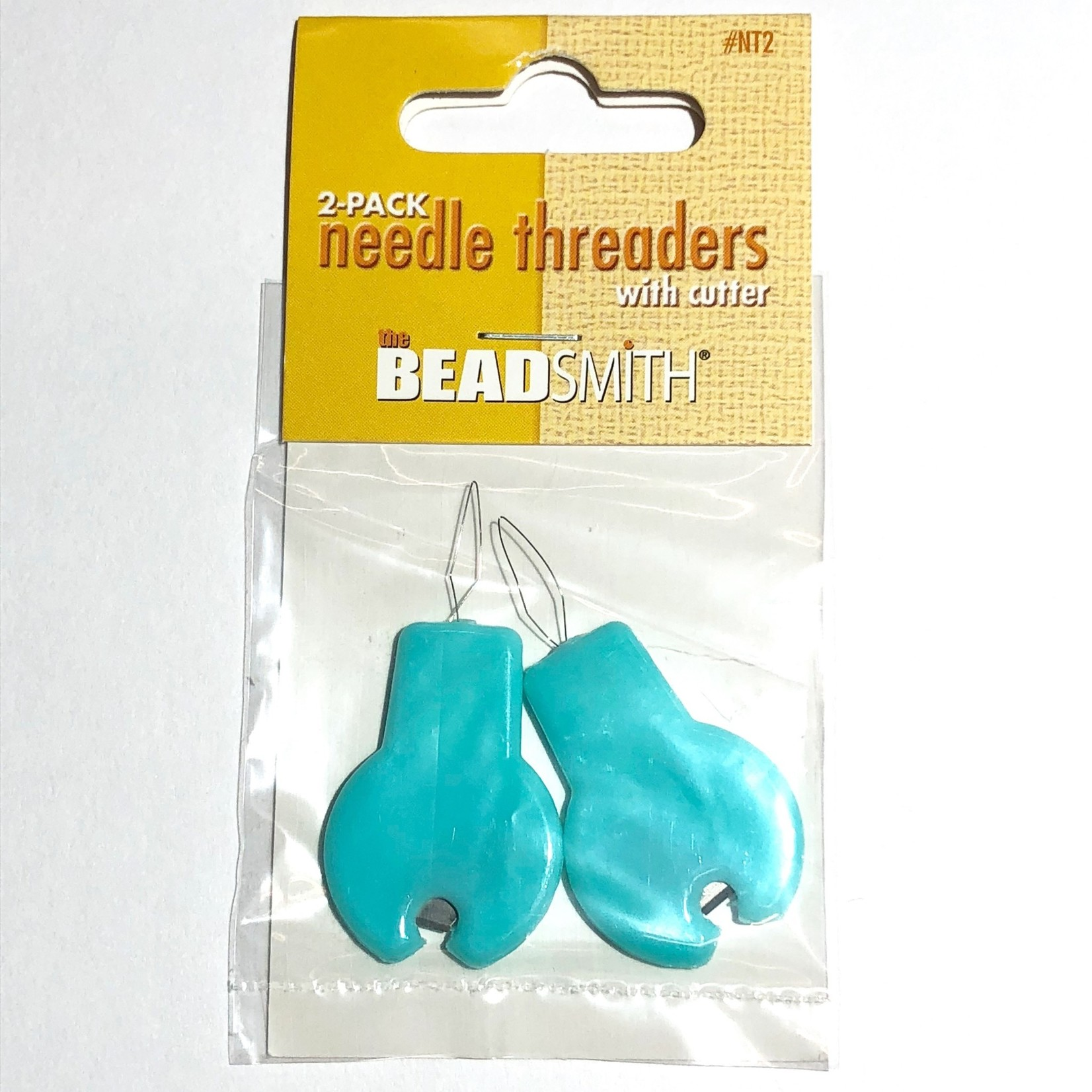Beadsmith Needle Threaders with Cutter 2pcs