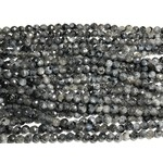 Larvakite Faceted Round Beads 4mm
