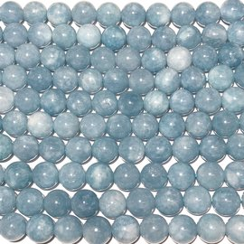 QUARTZ Blue Sponge Natural 8mm Round