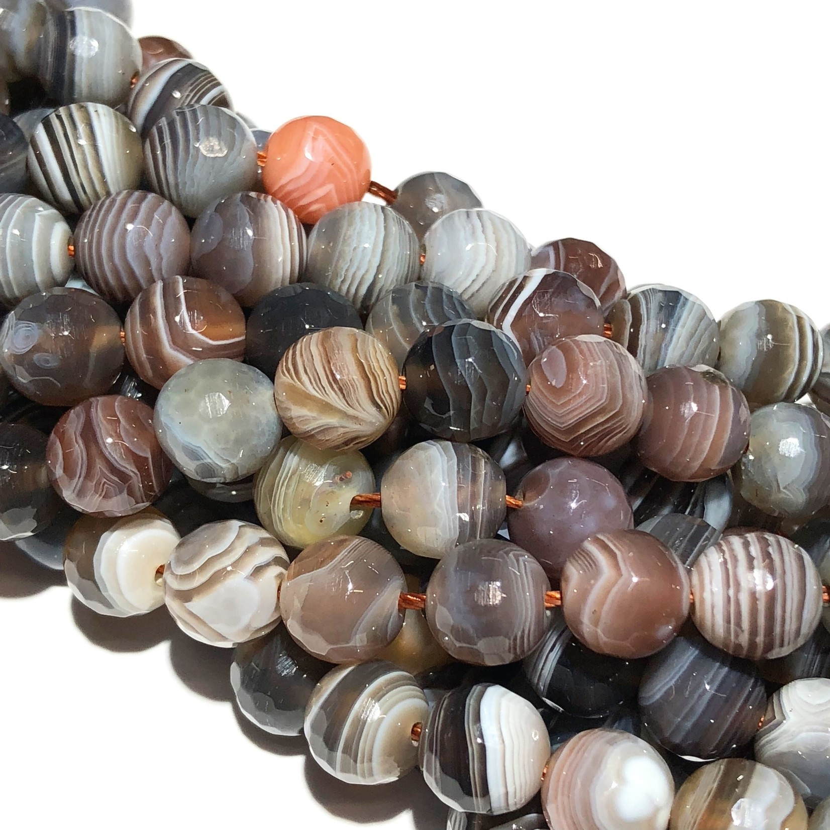 Botswana AGATE Natural 8mm Faceted