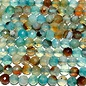 Natural Fire AGATE Multi-Blue 6mm Faceted