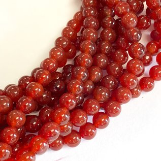Agate Red (Natural Carnelian) 6mm Round