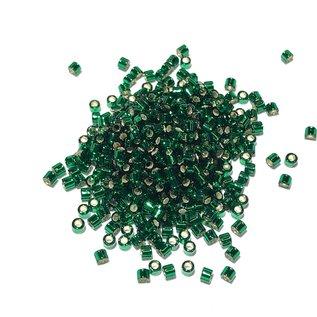 MIYUKI Delica 10-0 Silver Lined Dark Green 10g