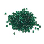 TOHO Hex 11-0 Silver Lined Green Emerald 20g Tb