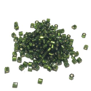 TOHO Hex 8-0 Silver Lined Olivine 20g Tb