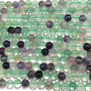 FLUORITE Rainbow Natural Grade B 6mm Round