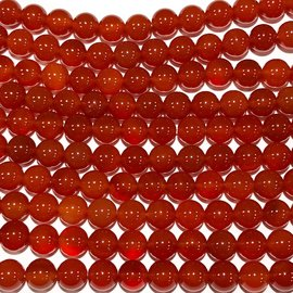 Natural Carnelian (Light) AGATE 8mm Round