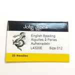 John James NEEDLES English Beading #12 25/Pkg