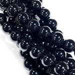 Natural Black Onyx 8mm Round