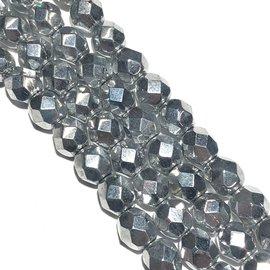 MATUBO Firepolish Silver 6mm
