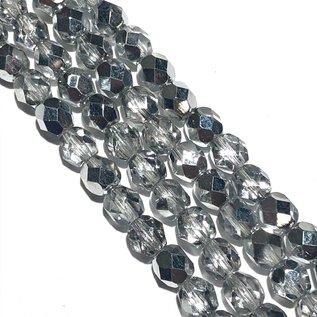 MATUBO Firepolish Silver 1/2 6mm