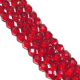 MATUBO Firepolish Twilight Siam Ruby 6mm