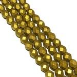 MATUBO Firepolish Matte Metallic Aztec Gold 6mm