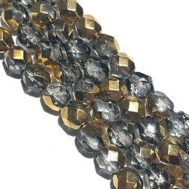 MATUBO Firepolish Gold 1/2 6mm