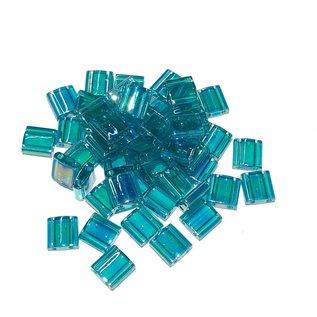 MIYUKI Tila Trans Turquoise Green Luster AB 10g