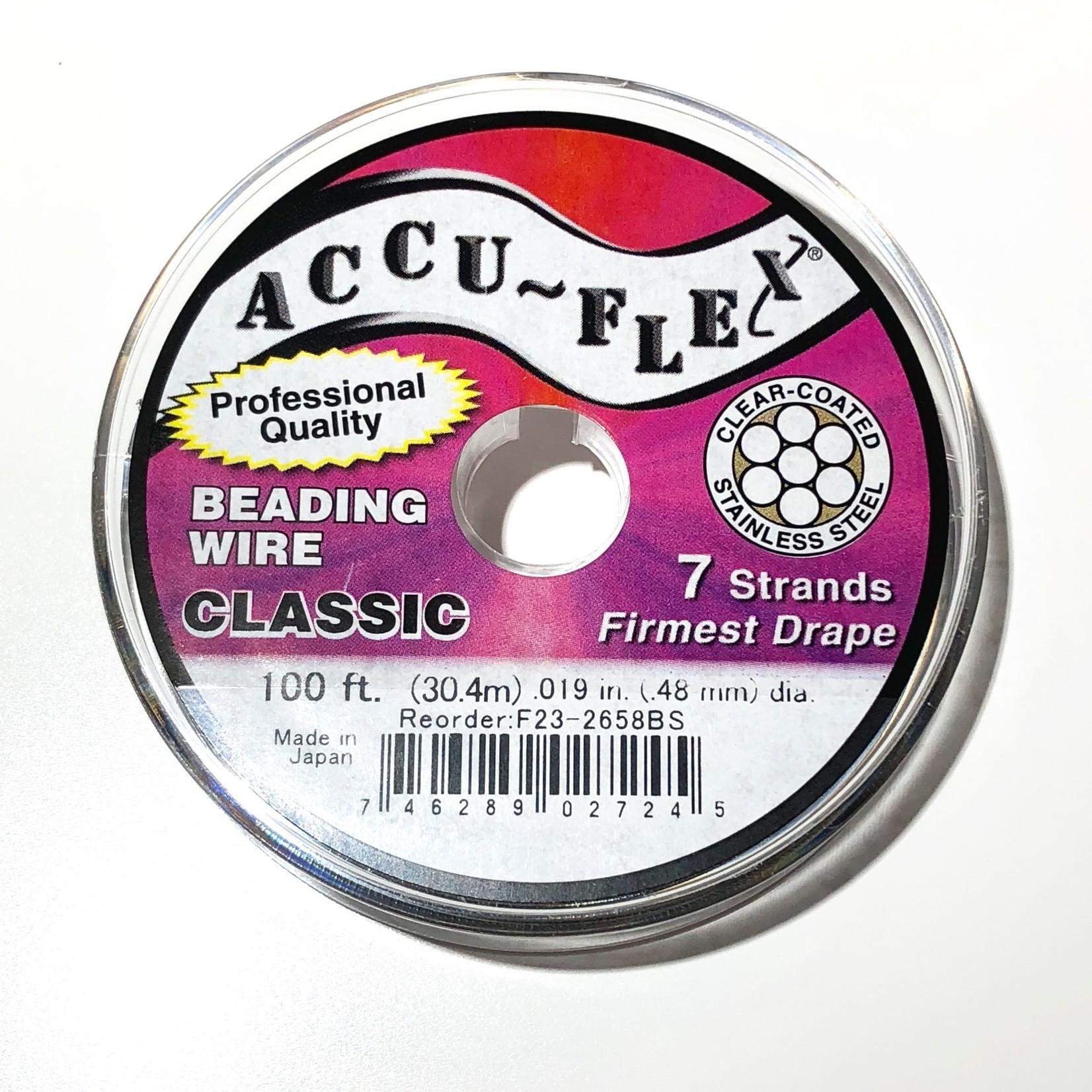 ACCU FLEX Bead Wire 7 Strand Classic 100Ft .019in