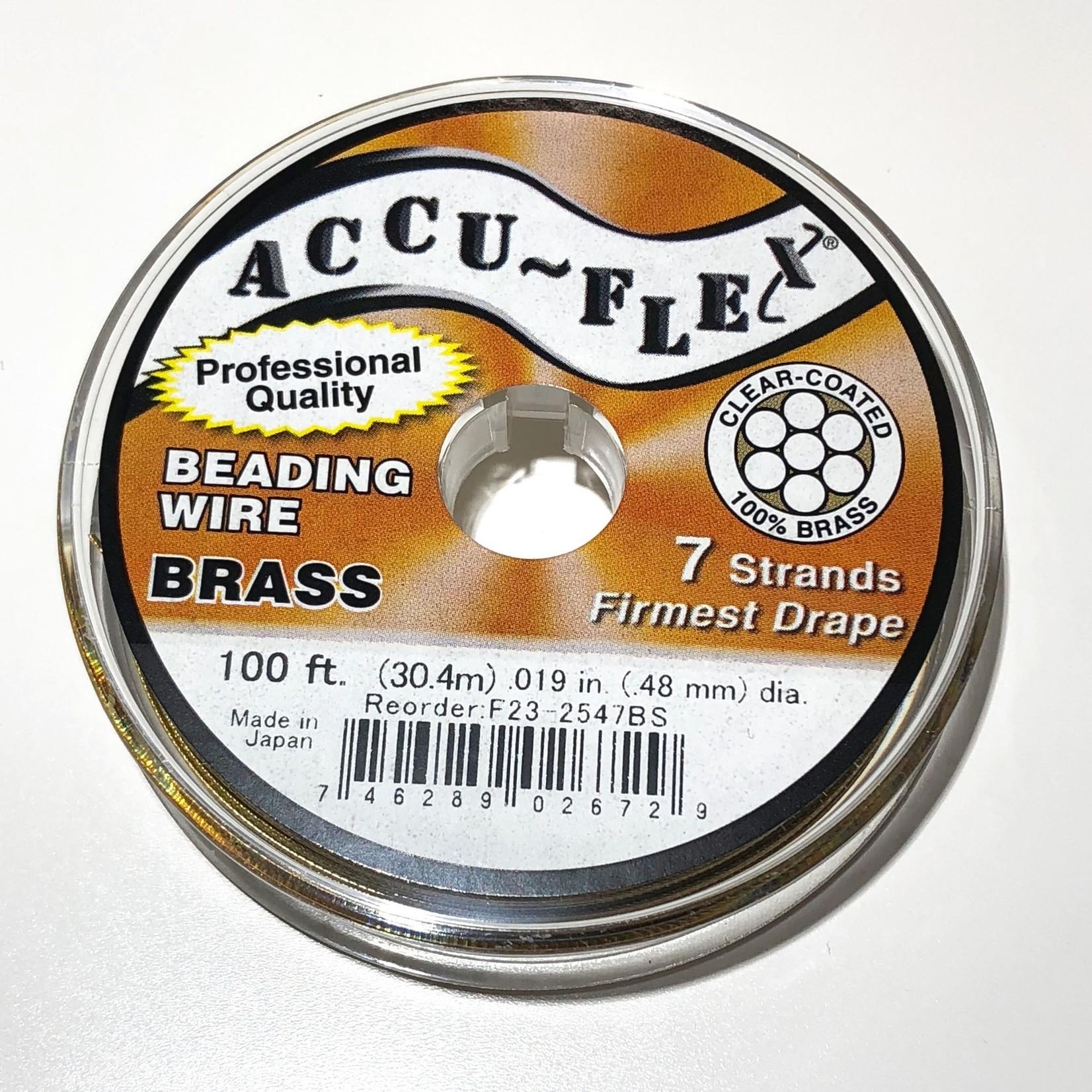 ACCU FLEX Bead Wire Brass 7 Strand .019in 100ft