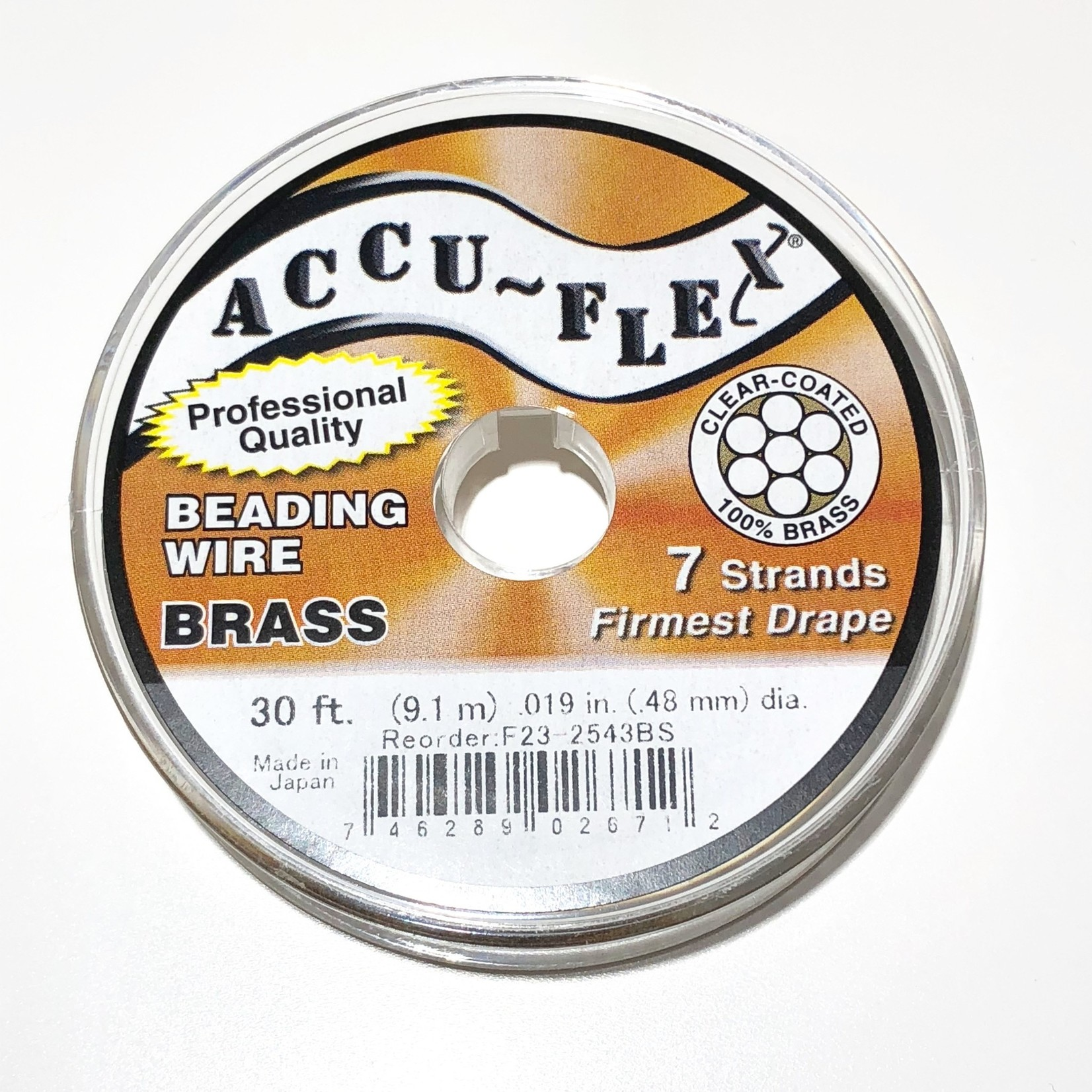 ACCU FLEX Bead Wire Brass 7 Strand .019in 30Ft
