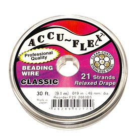 ACCU FLEX Bead Wire 21 Strand Steel .019in 30 Ft