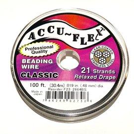 ACCU FLEX Bead Wire 21 Strand .019in 100Ft