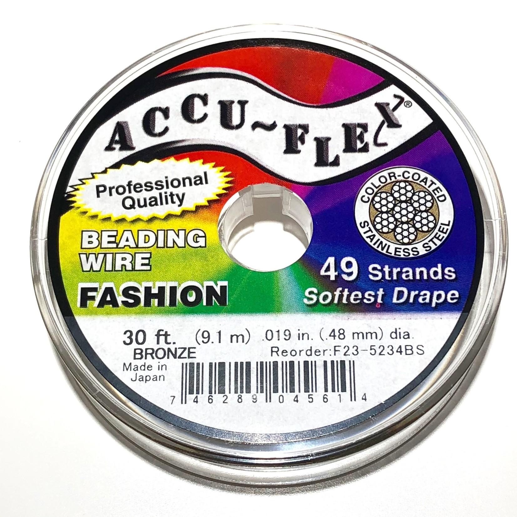 ACCU FLEX Bead Wire 49 Str .019in, 30 Ft Bronze