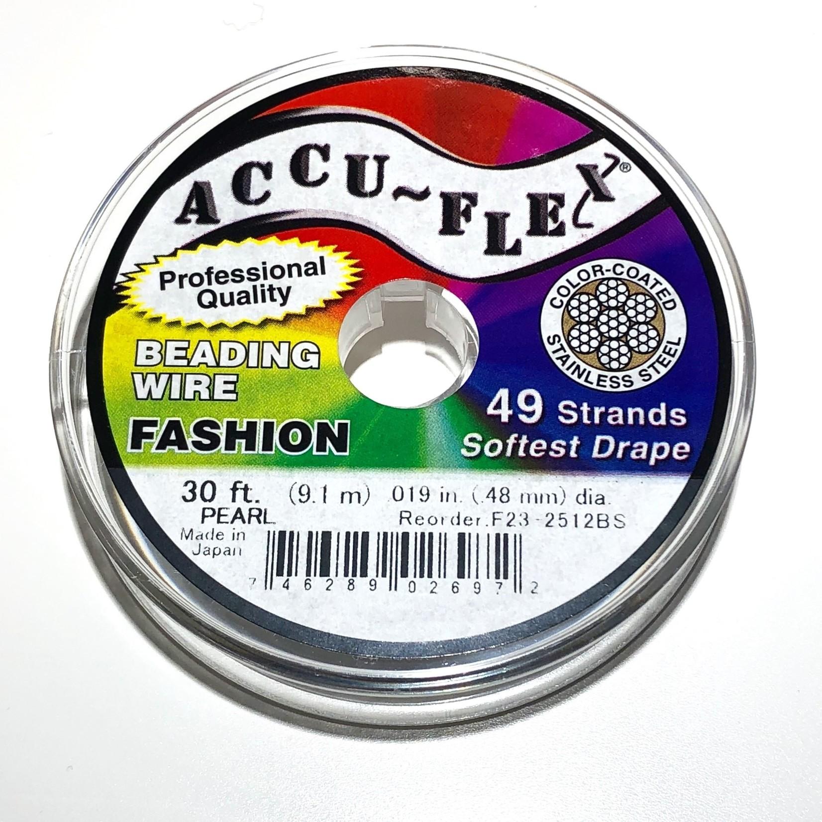ACCU FLEX Bead Wire 49 Strand .019in Pearl 30Ft