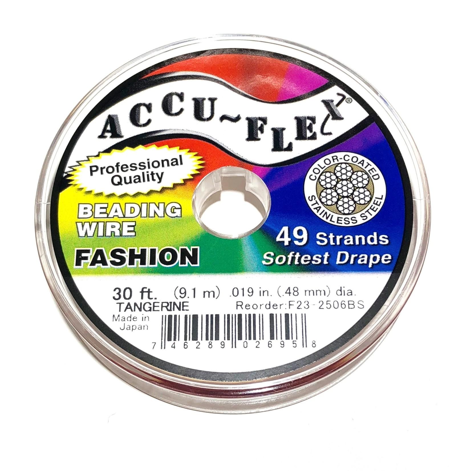 ACCU FLEX Bead Wire 49 Str .019in, 30 Ft Tangerine