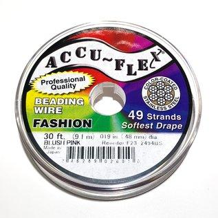 ACCU FLEX Bead Wire 49 Str .019in, 30 Ft Blush Pink