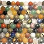 GEMSTONE Assorted 10mm Round Multi-Colour