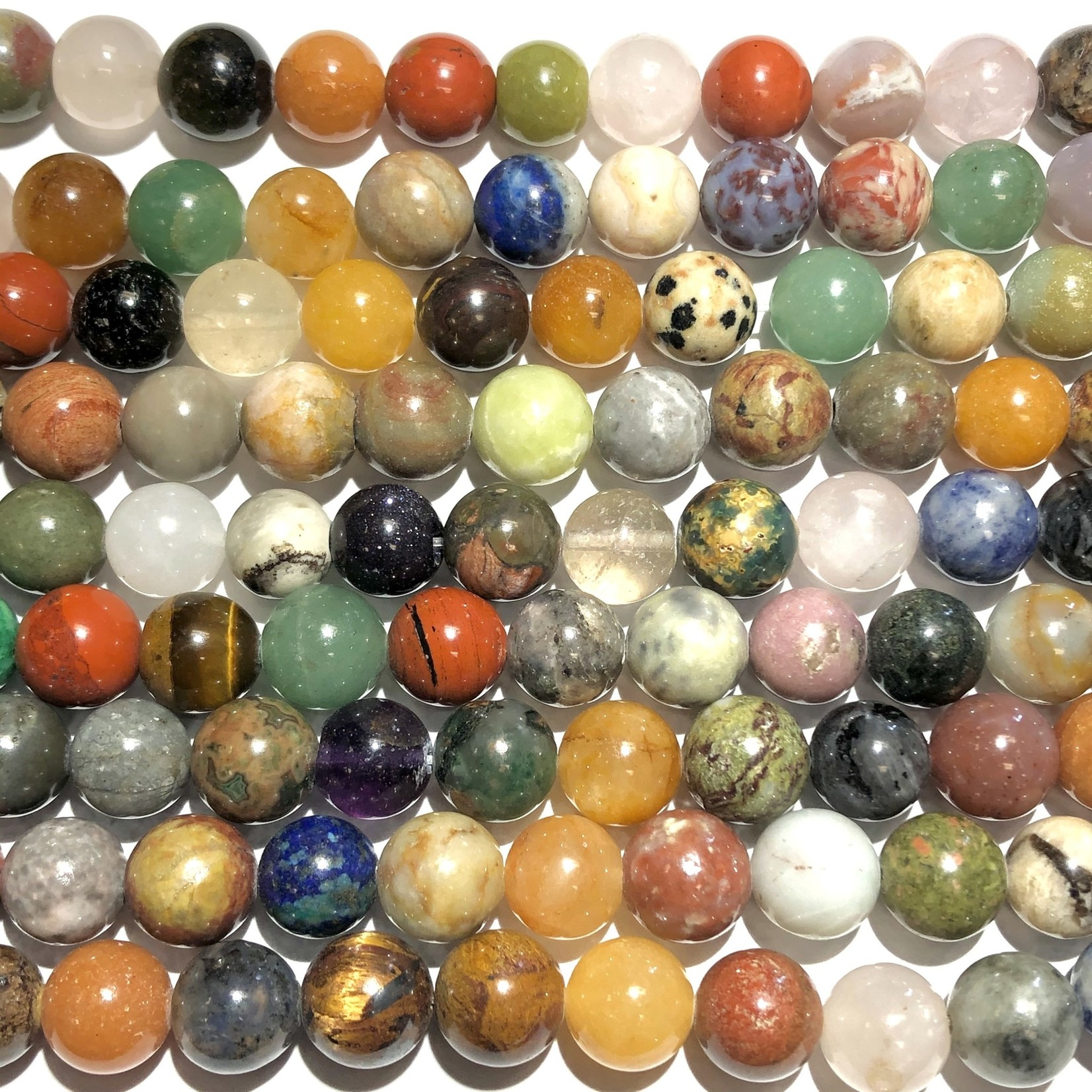 GEMSTONE Assorted 10mm Round Multi-Colour