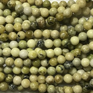 AFRICAN Yellow TURQUOISE Natural 8mm Round
