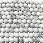 HOWLITE White Natural 6mm Faceted