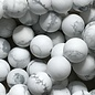 Howlite White Natural Frosted 8mm Round