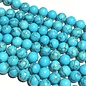 HOWLITE Dyed Turquoise Blue 6mm Round