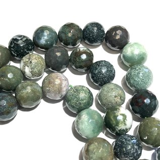 INDIAN AGATE Natural 12mm Faceted