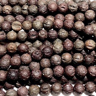 BROWN LAVA Stone Natural 8mm Round