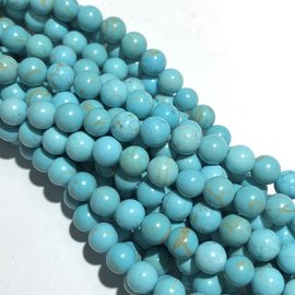 Magnesite Natural Dyed Turquoise 6mm Round