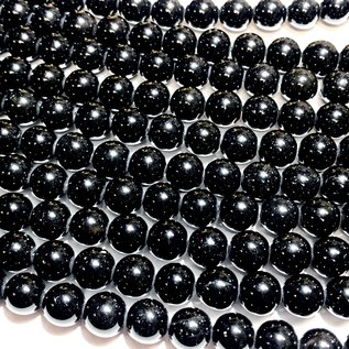 Black OBSIDIAN Natural Grade A 8mm Round