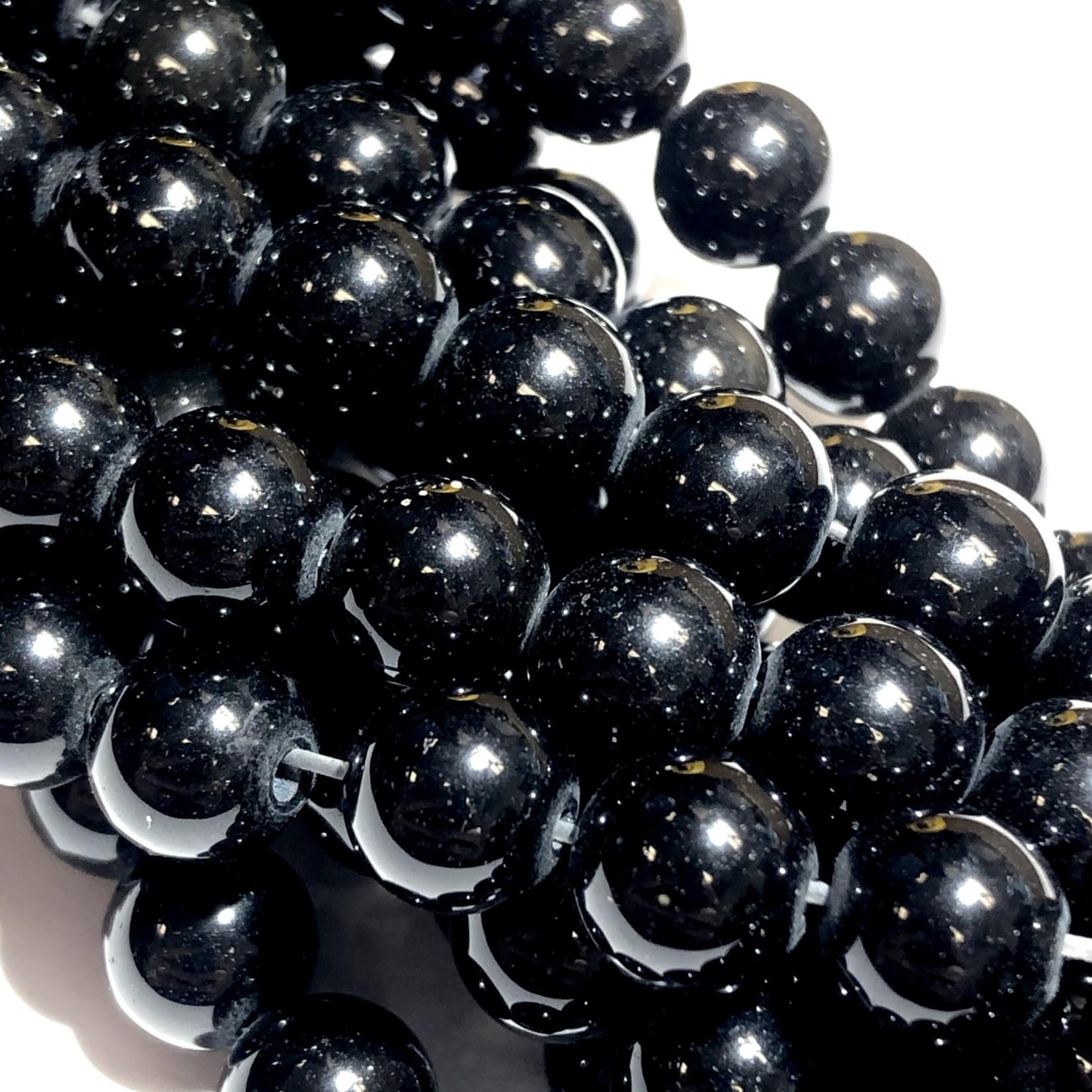 Black OBSIDIAN Natural Grade A 8mm Round