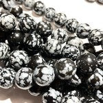 Snowflake OBSIDIAN Natural 12mm Round