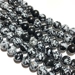 Snowflake OBSIDIAN Natural 8mm Round
