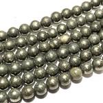 PYRITE 6mm Round Beads Natural