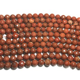 Red Jasper Beads 10mm Faceted