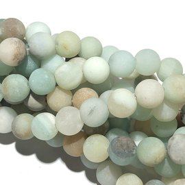 Amazonite Natural Frosted 8mm Round