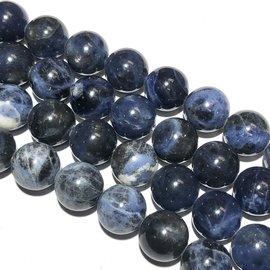 SODALITE Natural 12mm Round Beads