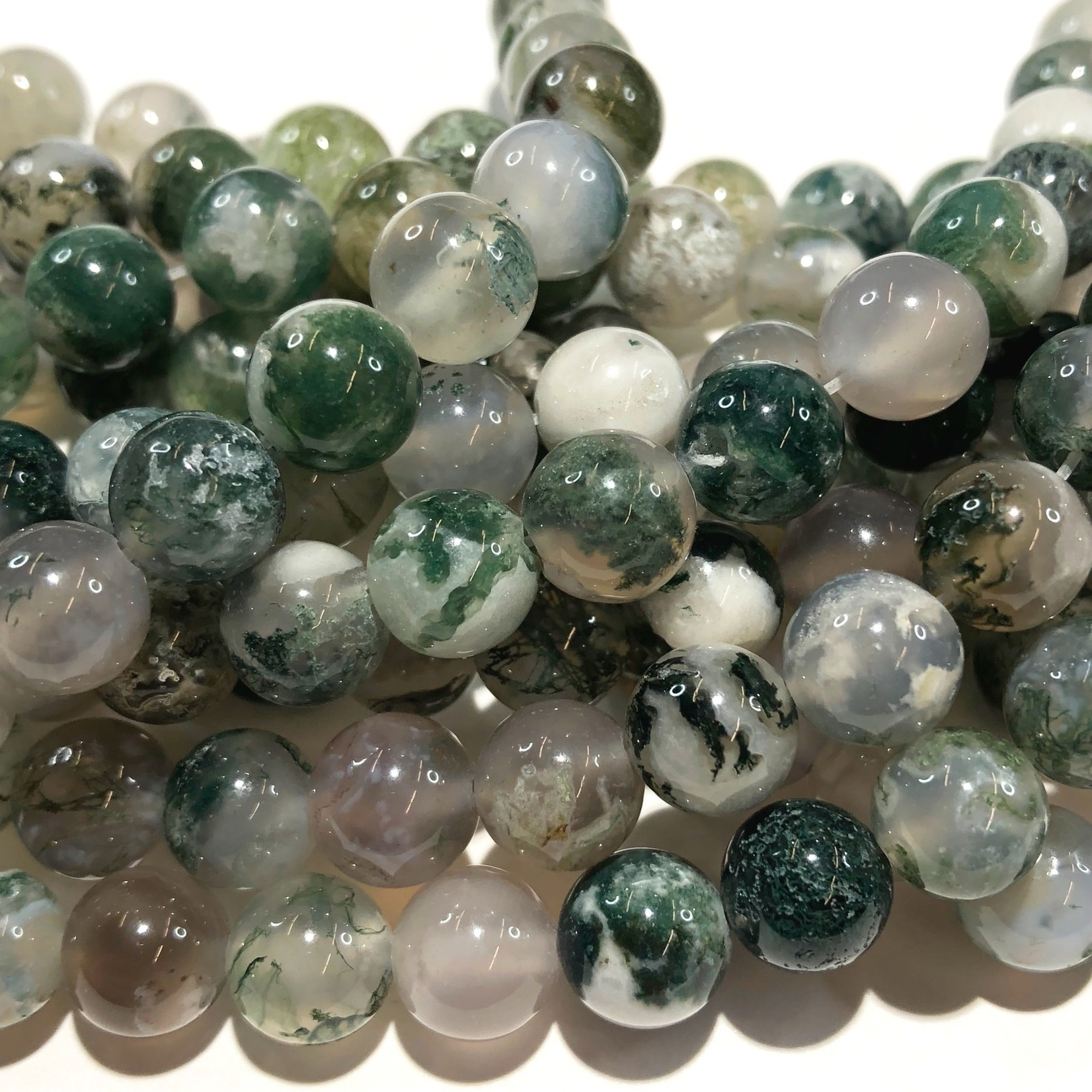 AGATE Tree Natural 8mm Round