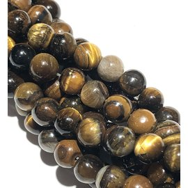 Natural TIGER EYE Grade B 6mm Round