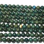Wood Lace Jasper Dyed Blue/Green 8mm Rnd